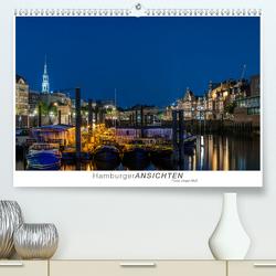 Hamburger Ansichten (Premium, hochwertiger DIN A2 Wandkalender 2021, Kunstdruck in Hochglanz) von Muß,  Jürgen