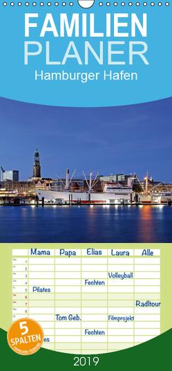 Hamburger Hafen – Familienplaner hoch (Wandkalender 2019 , 21 cm x 45 cm, hoch) von Hasche,  Joachim
