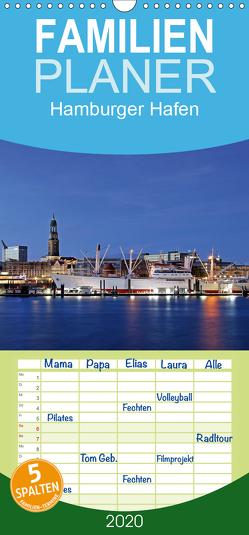 Hamburger Hafen – Familienplaner hoch (Wandkalender 2020 , 21 cm x 45 cm, hoch) von Hasche,  Joachim