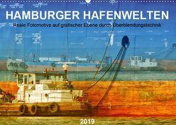 Hamburger Hafenwelten (Wandkalender 2019 DIN A2 quer) von Falke,  Manuela
