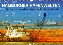 Hamburger Hafenwelten (Wandkalender 2019 DIN A3 quer) von Falke,  Manuela