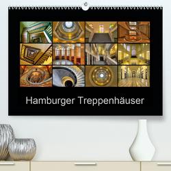Hamburger Treppenhäuser (Premium, hochwertiger DIN A2 Wandkalender 2020, Kunstdruck in Hochglanz) von Hasche,  Joachim
