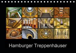 Hamburger Treppenhäuser (Tischkalender 2021 DIN A5 quer) von Hasche,  Joachim