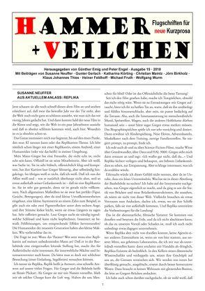 Hammer + Veilchen Nr. 15 von Emig,  Günther, Engel,  Peter