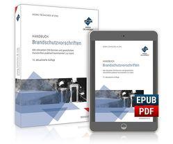 Handbuch Brandschutzvorschriften von Tschacher,  Georg