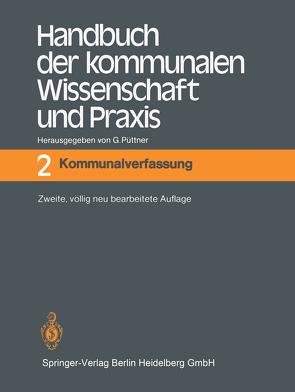 Handbuch der kommunalen Wissenschaft und Praxis von Borchmann,  M., Püttner,  Günter
