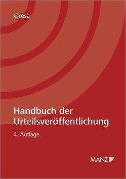 Handbuch der Urteilsveröffentlichung von Ciresa,  Meinhard