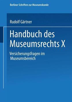 Handbuch des Museumsrechts X von Gärtner,  Rudolf