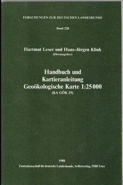 Handbuch und Kartieranleitung Geoökologische Karte von Klink,  Hans J, Leser,  Hartmut