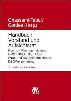 Handbuch Vorstand und Aufsichtsrat von Cordes,  Malte, Ghassemi-Tabar,  Nima