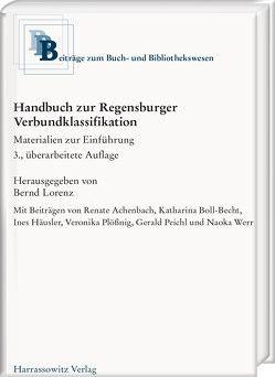 Handbuch zur Regensburger Verbundklassifikation von Lorenz,  Bernd