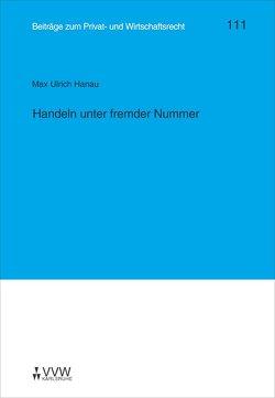 Handeln unter fremder Nummer von Hanau,  Max U