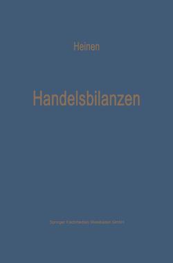 Handelsbilanzen von Heinen,  Edmund