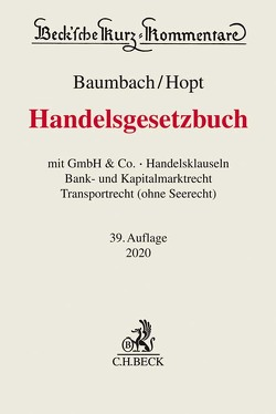 Handelsgesetzbuch von Baumbach,  Adolf, Hopt,  Klaus J., Kumpan,  Christoph, Merkt,  Hanno, Roth,  Markus
