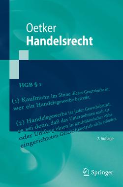 Handelsrecht von Oetker,  Hartmut