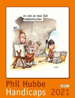 Handicaps 2021: Monatskalender für die Wand von Hubbe,  Phil