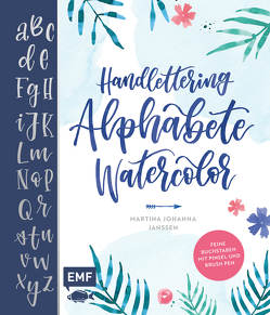 Handlettering Alphabete Watercolor von Janssen,  Martina Johanna