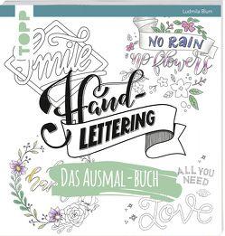 Handlettering. Das Ausmal-Buch von Blum,  Ludmila