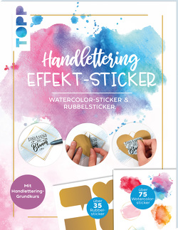 Handlettering Effekt-Stickerbuch von Blum,  Ludmila, frechverlag
