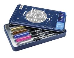 Handlettering Metallic Brush Pens von frechverlag