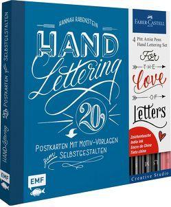 Handlettering Postkarten Set mit Stiften von Rabenstein,  Hannah