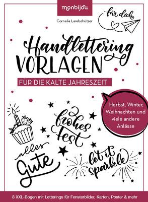 Handlettering-Vorlagen für die kalte Jahreszeit von Landschützer,  Cornelia