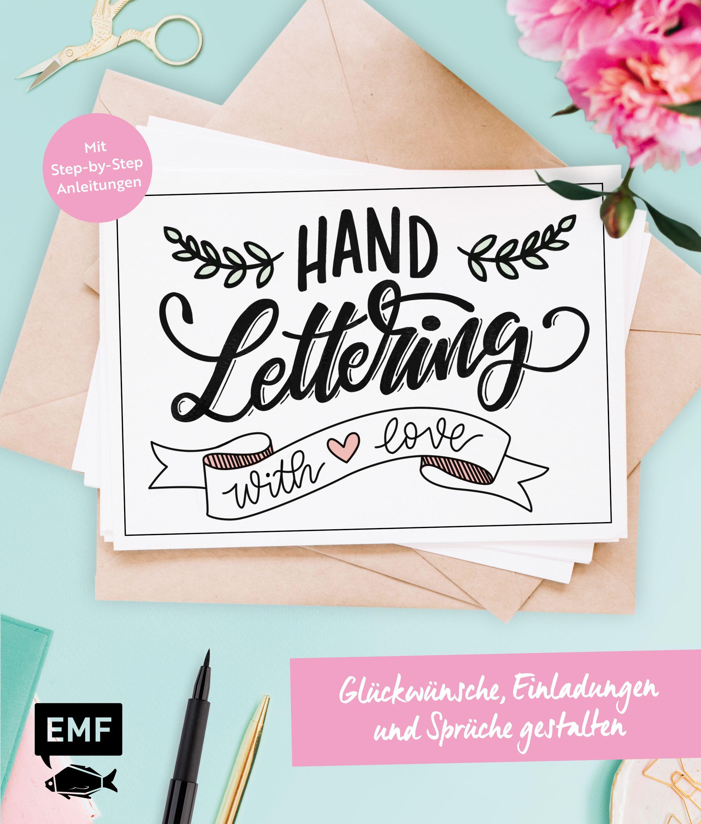 Handlettering With Love Gluckwunsche Einladungen Und Spruche G