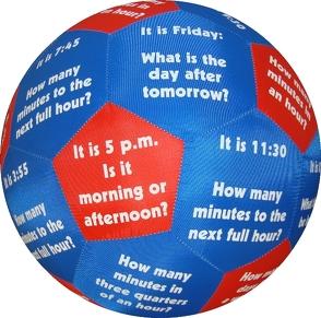 HANDS ON Lernspielball – Telling time and time elements von Stubenrauch,  Bernhard