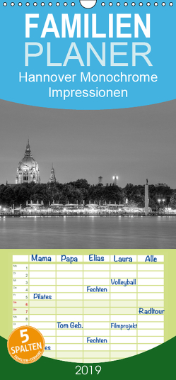 Hannover Monochrome Impressionen – Familienplaner hoch (Wandkalender 2019 , 21 cm x 45 cm, hoch) von Hasche,  Joachim