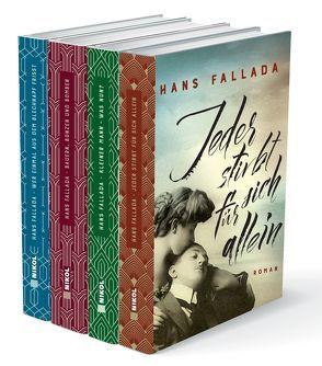 Hans Fallada (vier Romane) – Jeder stirbt für sich allein – Kleiner Mann, was nun? – Bauern, Bonzen und Bomben – Wer einmal aus dem Blechnapf frißt von Fallada,  Hans