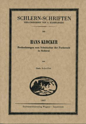 Hans Klocker von Scheffler,  Gisela