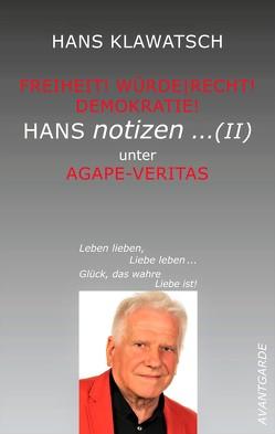 Hans Notizen … (II) von Klawatsch,  Hans
