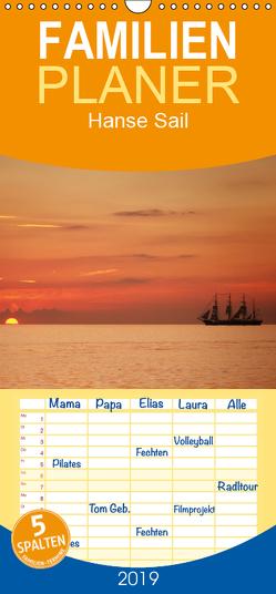 Hanse Sail – Familienplaner hoch (Wandkalender 2019 , 21 cm x 45 cm, hoch) von Deter,  Thomas