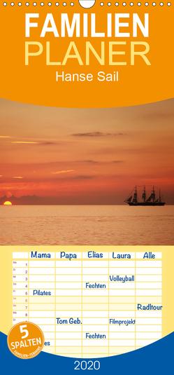 Hanse Sail – Familienplaner hoch (Wandkalender 2020 , 21 cm x 45 cm, hoch) von Deter,  Thomas