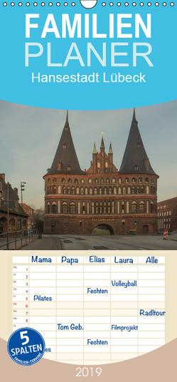 Hansestadt Lübeck – Familienplaner hoch (Wandkalender 2019 , 21 cm x 45 cm, hoch) von Potratz,  Andrea