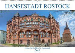 Hansestadt Rostock Historischer Stadtkern bis Warnemünde (Wandkalender 2019 DIN A2 quer) von / pixs:sell@Adobe Stock,  pixs:sell@fotolia