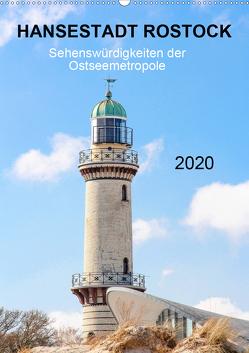 Hansestadt Rostock – Sehenswürdigkeiten der Ostseemetropole (Wandkalender 2020 DIN A2 hoch) von pixs:sell@fotolia, Stock,  pixs:sell@Adobe