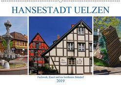 Hansestadt Uelzen. Fachwerk, Kunst und ein berühmter Bahnhof (Wandkalender 2019 DIN A2 quer) von M. Laube,  Lucy