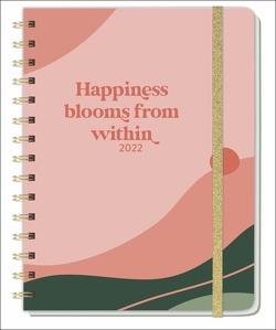 Happiness blooms from within Spiral-Kalenderbuch A5 Kalender 2022 von Heye