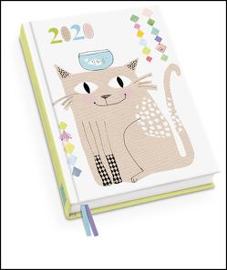 Happy Cat Taschenkalender 2020 – Terminplaner mit Wochenkalendarium – Format 11,3 x 16,3 cm von DUMONT Kalenderverlag, Turnowsky