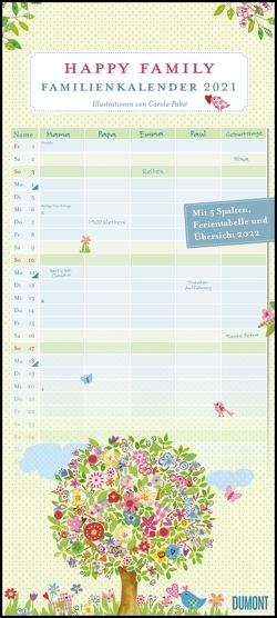 Happy Family Familienkalender 2021 – Familien-Planer mit 5 Spalten – Wandkalender mit Spiralbindung – Format 22 x 49,5 cm von Pabst,  Carola
