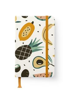 Happy Fruits 10×15 cm – GreenLine Journal – 176 Seiten, Punktraster und blanko – Hardcover – gebunden