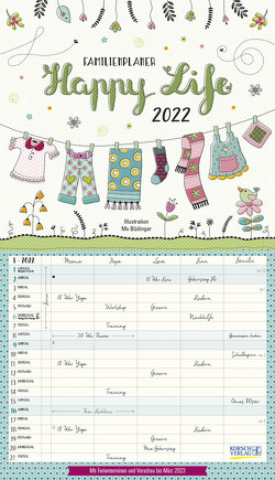 Happy Life 2022 von Büdinger,  Mo, Korsch Verlag