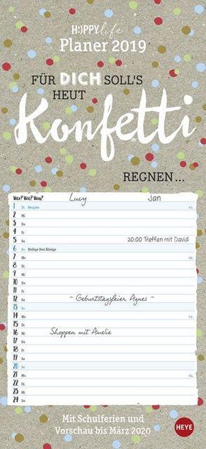 HAPPYlife Planer – Kalender 2019