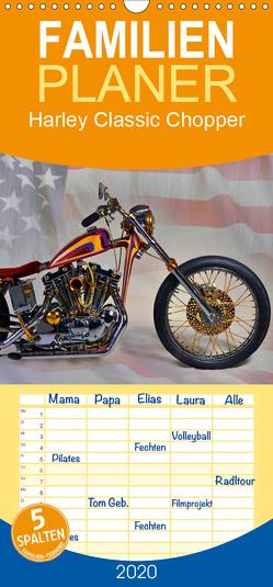 Harley Classic Chopper – Familienplaner hoch (Wandkalender 2020 , 21 cm x 45 cm, hoch) von Laue,  Ingo