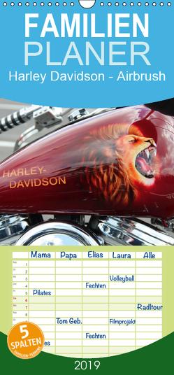 Harley Davidson – Airbrush – Familienplaner hoch (Wandkalender 2019 , 21 cm x 45 cm, hoch) von Brix - Studio Brix,  Matthias