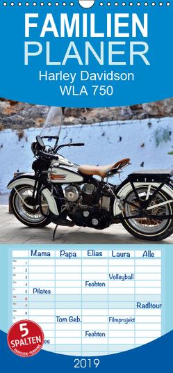 Harley Davidson WLA 750 – Familienplaner hoch (Wandkalender 2019 , 21 cm x 45 cm, hoch) von Laue,  Ingo