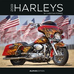 Harleys 2019 – Broschürenkalender von ALPHA EDITION, Popkes,  Christian