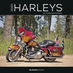 Harleys 2020 – Broschürenkalender (30 x 60 geöffnet) – Wandkalender – Motorradkalender – Fahrzeuge – Wandplaner von ALPHA EDITION, Popkes,  Christian