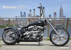 Harleys 2021 – Wand-Kalender – 42×29,7 – Motorrad von Popkes,  Christian